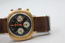 Elgin 60's Vintage Chronograph Valjoux 7736 Watch Black Dial 3 Colors Cal 330