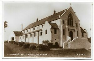 POSTCARDS-SCOTLAND-EAST-DUNBARTONSHIRE-MILNGAVIE-RP-St-Joseph-039-s-RC-Church