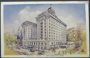 Hotel-Utah-Red-cross-Cancel-Red-cross-Postcard-Ak-Postcard-Lot-A3780