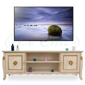 Porta Tv Stile Barocco.Dettagli Su Mobile Porta Tv Basso In Stile Barocco Avorio Patinato E Oro Foglia