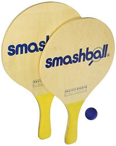 Original SMASHBALL SET Beach Lake Pool Paddle Ball Kit Wooden Game Float SBS-1