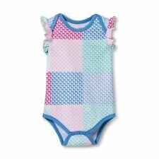 Vineyard Vines Target Baby Girl Patchwork Sleeveless Bodysuit Whale Ruffle NEW