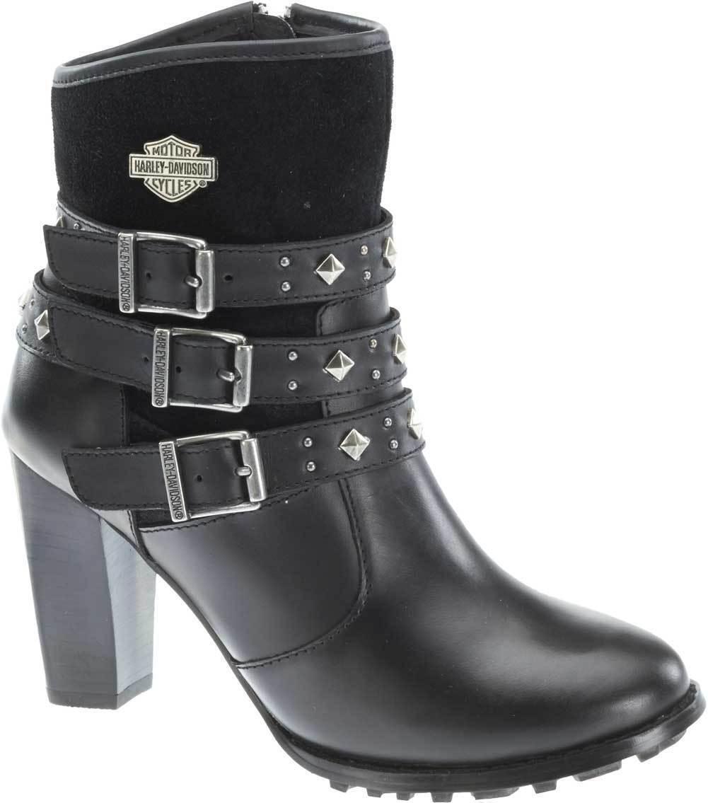 Harley-Davidson botas señora botines de cuero negro 39/40/41 83865 Abbey
