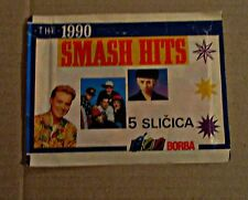 SMASH HITS 1990 - UNOPENED PACK WITH STICKERS - NO PANINI - RARE