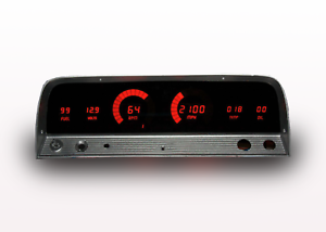 1964-1966 Chevy Truck Digital Dash Panel Red LED Gauges Made In The USA