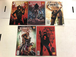 Jennifer Blood #1 2 3 4 5 Comic Book Set #1-5 Dynamite 2011