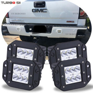 Details About For Gmc Sierra Yukon Flush Mount Backup Reverse Rear Front Bumper 4x Led Lights
