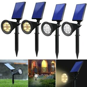 Set of 2-4 Solar Power Spot Light Outdoor 6 LED Garden Lawn Landscape Path Lamp