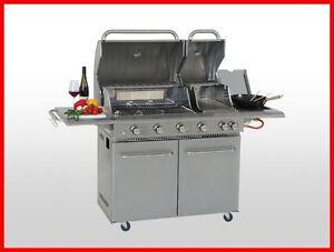Coobinox lusso 4 bruciatore sizzle acciaio inox barbecue a gas grill griller cucina esterno 16 - Cucina gas esterno ...