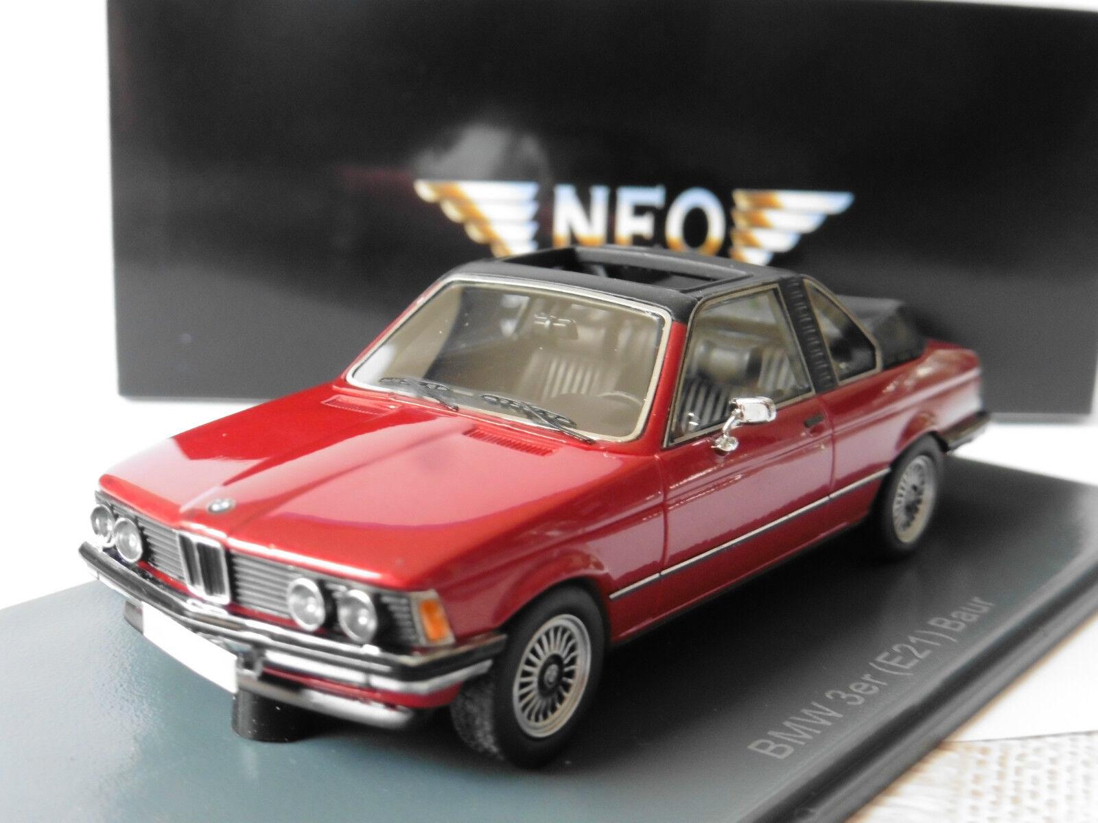 BMW 3ER E21 320 BAUR RED NEO 43289 1 43 CABRIOLET 1977 CONgreenIBLE red red