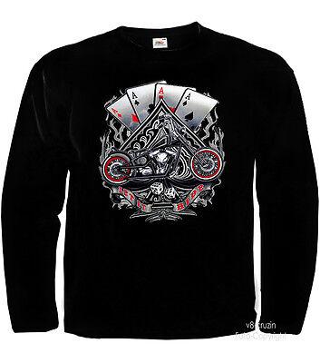 * American Harley-chopper-motiv Motorrad Biker T-shirt * 4245 Ls Eine Hohe Bewunderung Gewinnen