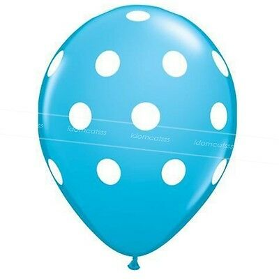 Kids Christening Birthday Latex Polka Dot Party Balloons Bulk 12 inch Balloon
