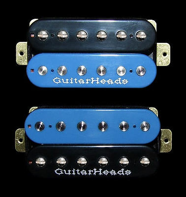 SET 2 BLACK /& RED ZEBRA Guitar Parts GUITARHEADS PICKUPS ZBUCKER HUMBUCKER