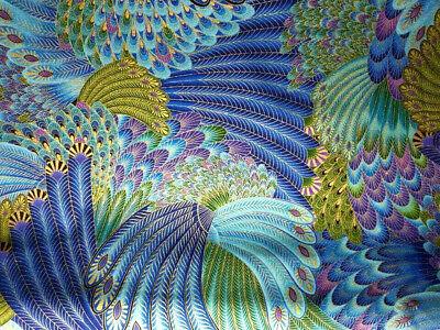 100/% Cotton Poplin Fabric Feathers 481