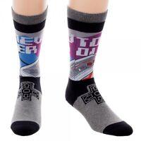 Classic Retro Nintendo Nes Sublimated Crew Socks 1 Pair Never Too Old Controller