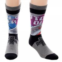 Classic Retro Nintendo Nes Sublimated Crew Socks 1 Pair Never Too Old Controller