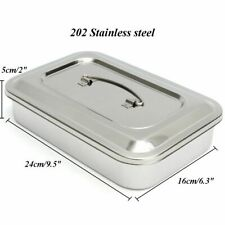 Dental Instruments Tray Stainless Steel Surgical Nursing Lid Medical Equipment