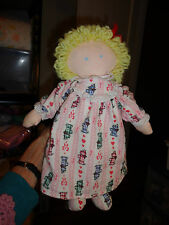 """Eden Baby Doll w Removable Nightgown Panties Pink Dogs on Flannel Material 13"""""""