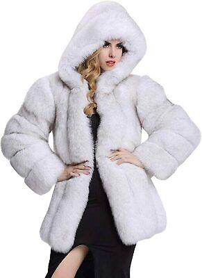 Women Faux Fur Coat Long Thicken Tops Imitation Mink Overcoat Winter Warm Jacket