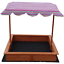 KIDS-WOODEN-TOY-SANDPIT-WITH-ADJUSTABLE-CANOPY thumbnail 5