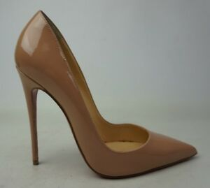 5db558e2085 Christian Louboutin So Kate 120 mm Patent Leather Nude Pumps Heels ...