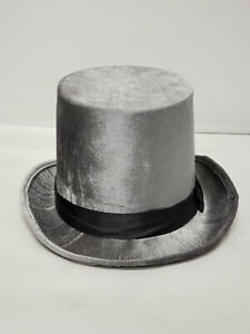 Brown Velvet Deluxe Top Hat with Hat Band  Adult Size