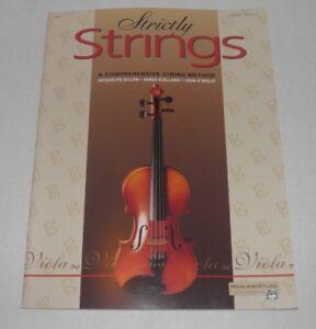 """Capable """"strictement Strings"""" A Comprehensive String Méthode, Viola Book 1 Nos-afficher Le Titre D'origine"""
