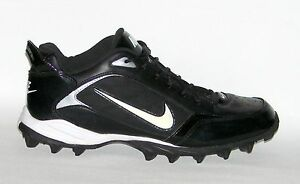 finest selection ceaec bb074 Image is loading NIKE-Land-Shark-Football-Cleats-Black-318732-011-