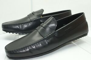 101eb12f8 New Tod's Mens Black Shoes Size 10.5 Mocassino City Gommino Loafers ...