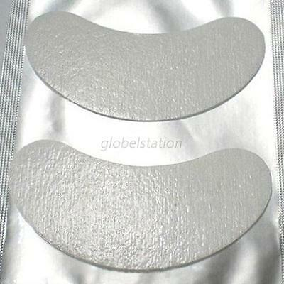 100 Pairs Comfy Curved Eye Gel Pad Thin Patches For Eyelash Extension Lint Free