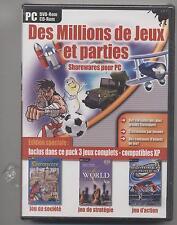 NEUF DES MILLIONS DE JEUX ET PARTIES SOUS BLISTER +PRO CHESS WORLD + SUMMER GAME
