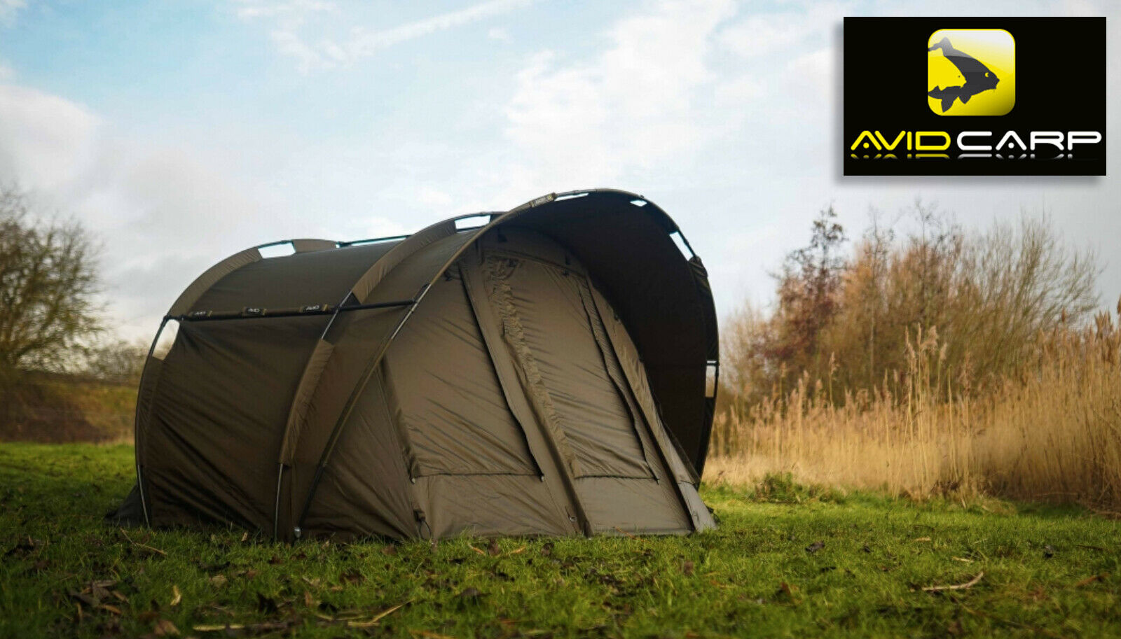 Avid Carp Ascent Bivvy 2 Man + Overwrap - Brand New + Free Delivery