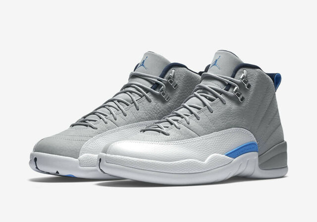 f581fc9178429c 2016 Nike Air Jordan 12 XII Retro Grey University Blue 130690-007 Size 10