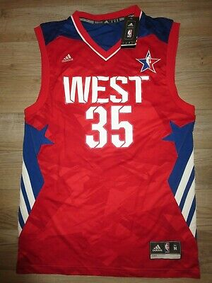 Kevin Durant #35 NBA All Star Golden State Warriors Men/'s Sewn Jersey S-2XL NEW