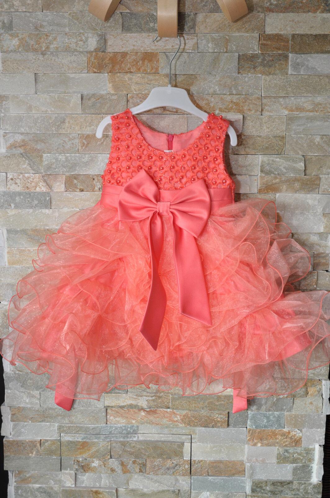 festliches süsses Kleid mit mehreren Unterröcken und Schleifen Tüll Gr. 80 86