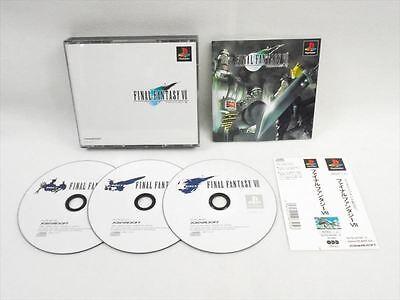 Ff7 Karte.Ps1 Final Fantasy Vii 7 Mit Spine Karte Ff7 Playstation Ps Japanisches Spiel P1 Ebay