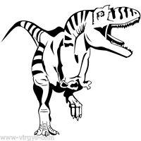 Sticker Dinosaure T-rex 25x27cm À 35x37cm, Tailles Et Coloris Divers (dino004)
