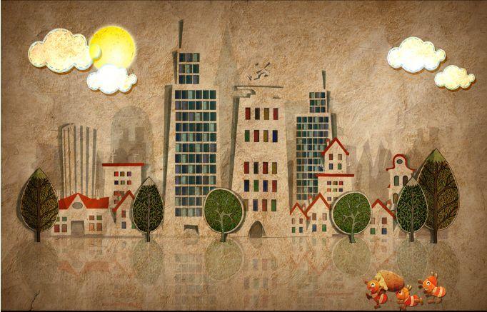 3DStadt Hoch 68687 Fototapeten Wandbild Wandbild Wandbild Fototapete BildTapete Familie DE d6fc7a
