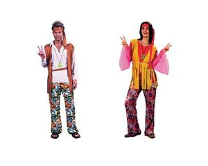 CHOOSE-MALE-OR-FEMALE-HIPPY-COSTUME-1970s-FANCY-DRESS-LARGE-EXTRA-LARGE-SIZE