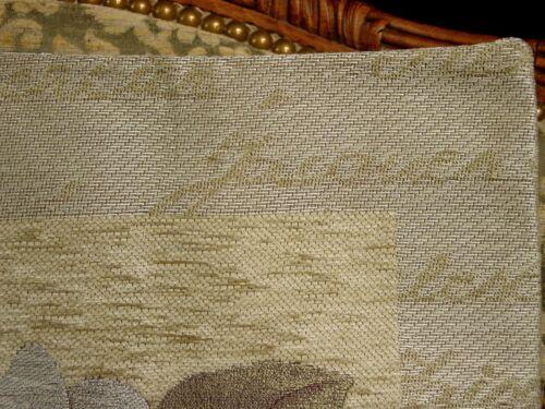 White ROSE Chenille Belgian Tapestry Pillow Cover