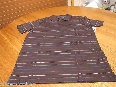 Men/'s Quiksilver bolt polo shirt blue $39.50 S small SM surf skate