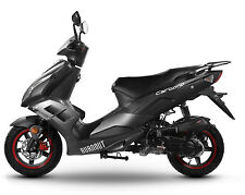 Sportroller Mofa 25 45 KmH Motorroller 50 49 ccm Moped schwarz-matt CARBONO 2017