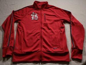 Nike-Dri-Fit-St-Louis-Cardinals-Track-Jacket-MLB-Baseball-M-Red