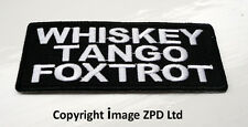 P1 WTF Whiskey Tango Foxtrot Iron on Patch.Funny Joke Biker  What The...