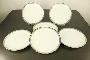 6-Kuchen-Teller-19-5cm-Thomas-Exquisit-Como-Blauluester-Raymond-Loewy-Porzellan