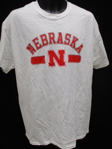 Neuf Nebraska Cornhuskers Hommes TAILLE L Chemise Blanche