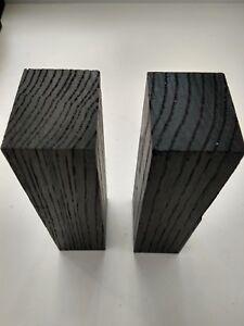 2pcs. lot black bog oak (morta wood) blanks for knife handles 30*40*120