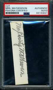 Mrs-Christy-Mathewson-PSA-DNA-Coa-Signed-Cut-Signature-Autograph