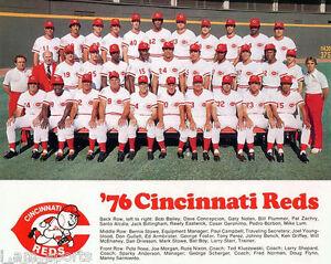 1976 CINCINNATI REDS BIG RED MACHINE WORLD SERIES CHAMPIONS 8x10 TEAM PHOTO