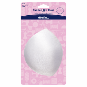 Padded Bra Cups Small White